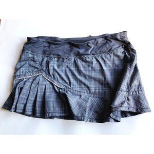 Lululemon Run Full Tilt Skirt Coal Pig Pink Shale
